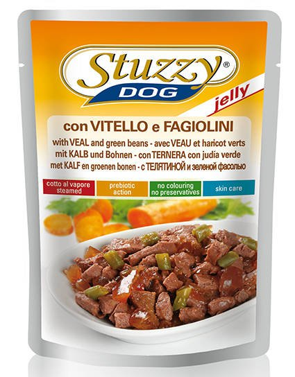 Stuzzy Dog Veal & Green Beans In Jelly - 24x100 gr.