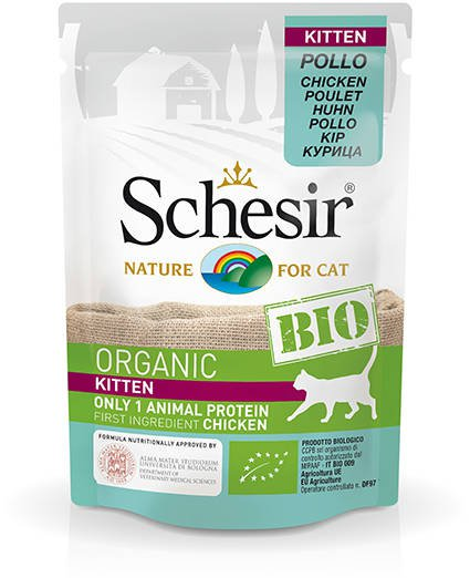 Schesir Cat Bio Kitten Chicken - 16x85 gr.