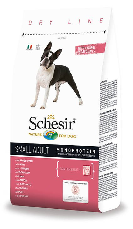 Schesir Dog Dry Small Main Ham - 2 kg.