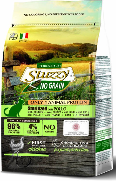 Stuzzy Cat No Grain Sterilized - 1,5 kg.
