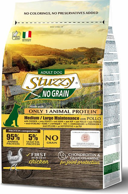 Stuzzy Dog No Grain Main Chicken - 12 kg.