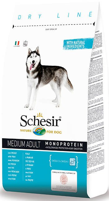 Schesir Dog Dry Medium Main Fish - 3 kg.