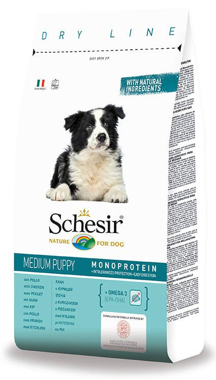 Schesir Dog Dry Medium Puppy Chicken - 3 kg.