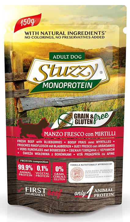 Stuzzy Dog Grain Free Monoprotein Beef & Blueberries - 12x150 gr.