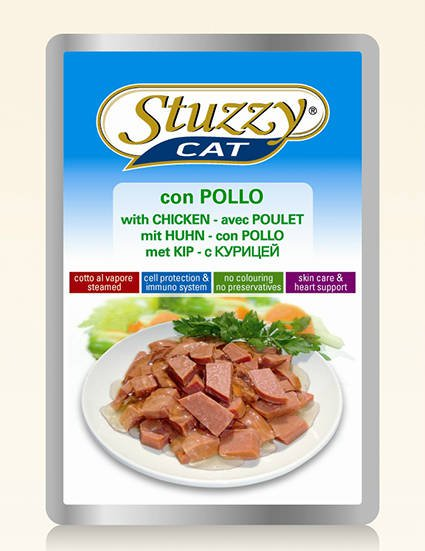 Stuzzy Cat Chicken - 24x100 gr.