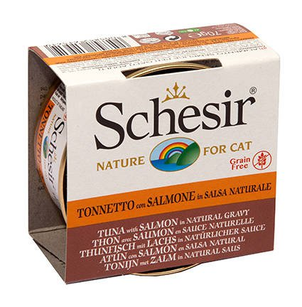 Schesir Cat Broth Natural Tuna & Salmon - 14x70 gr.