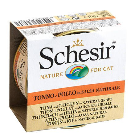 Schesir Cat Broth Natural Tuna & Chicken - 14x70 gr.