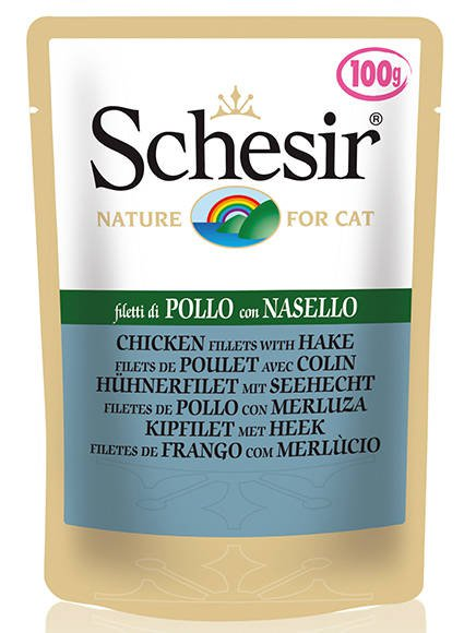 Schesir Cat Chicken & Hake - 20x100 gr.