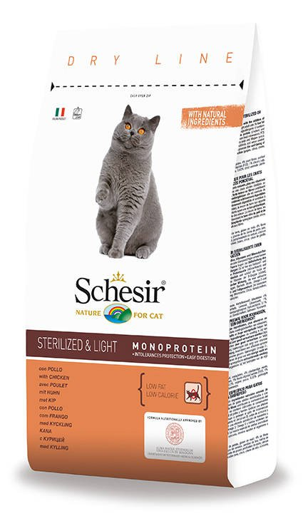 Schesir Cat Dry Sterilized & Overweight - 1,5 kg.