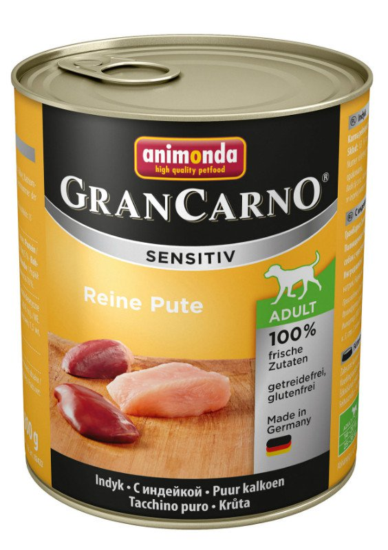Grancarno Sensitiv Pure Turkey - 800 gr. (6 verp.)