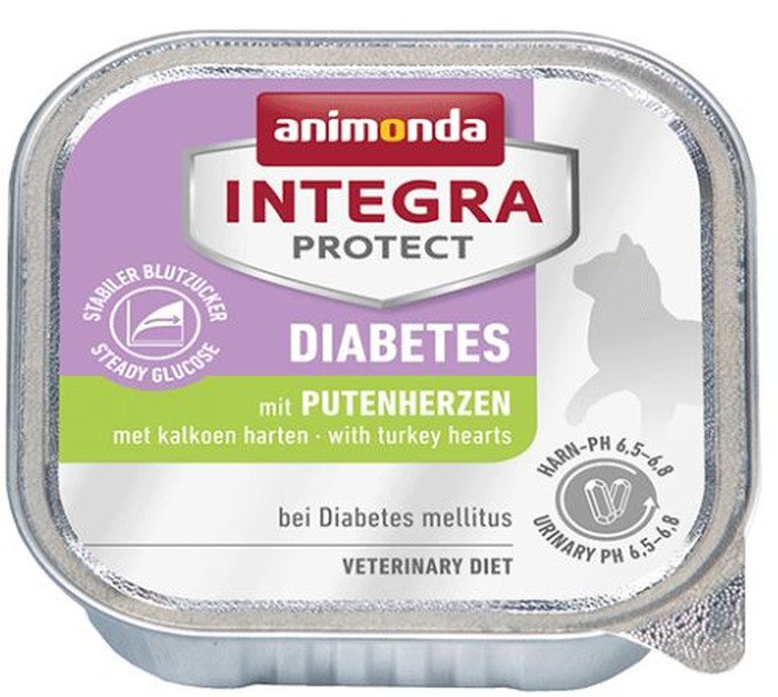 Integra Cat Diabetes Turkeyhearts - 16x100 gr.