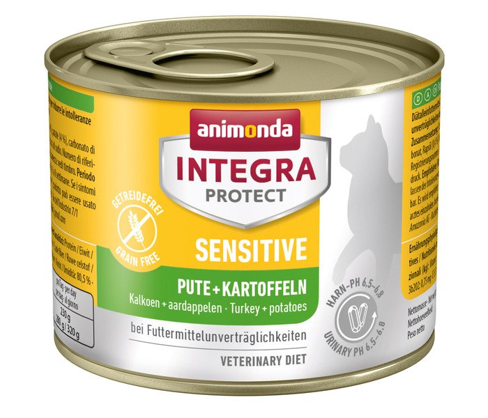 Integra Cat Sensitive Turkey+Patatoes - 6x200 gr.