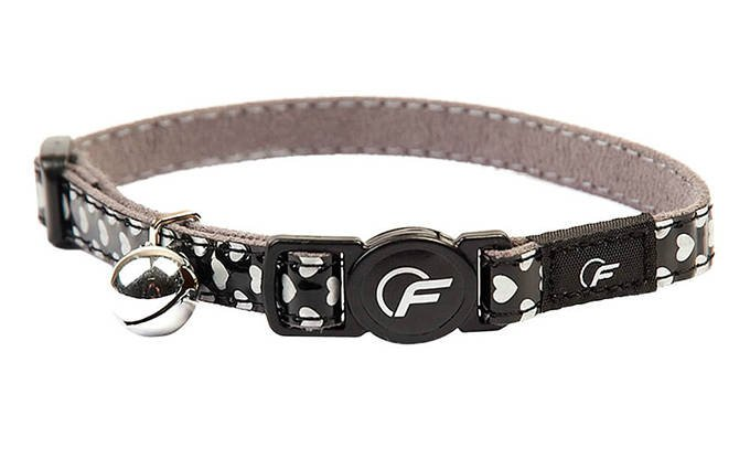 Freezack Cat Collar Shiny-Heart Black