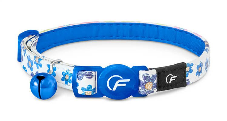 Freezack Cat Collar Glitter Flower Blue