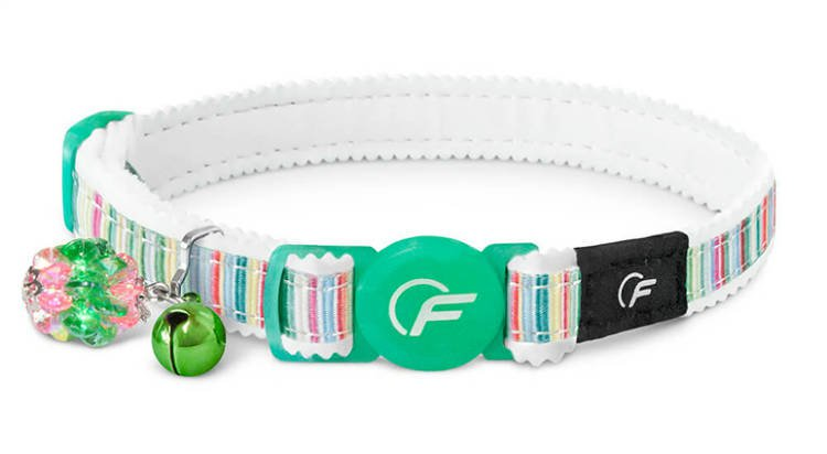 Freezack Cat Collar Horizontal Green