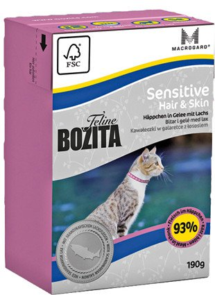 Bozita Feline Sensitive Hair & Skin - 190 gr. (16 verp.)