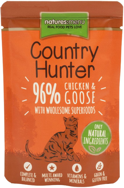 Natures Menu Cat Country Hunter Pouch Chicken & Goose - 85 gr. (6 verp.)
