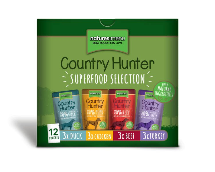 Natures Menu Dog Country Hunter Pouch Multipack - 12x150 gr.