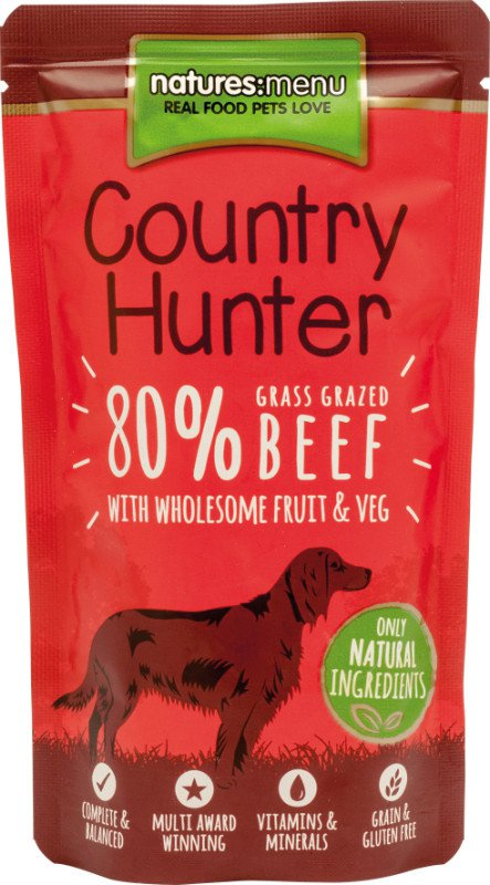 Natures Menu Dog Country Hunter Pouch Beef - 150 gr. (6 verp.)