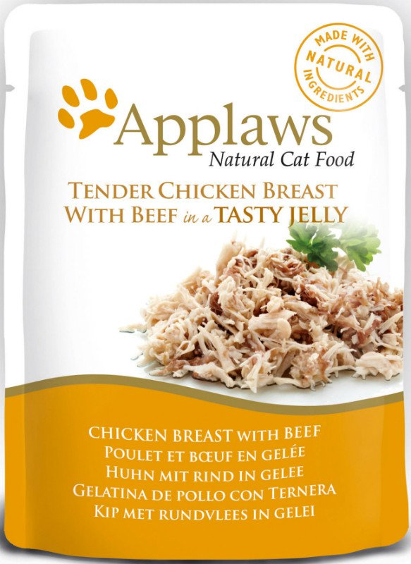 Applaws Cat Pouch Chicken/Beef in jelly - 70 gr. (16 verp.)