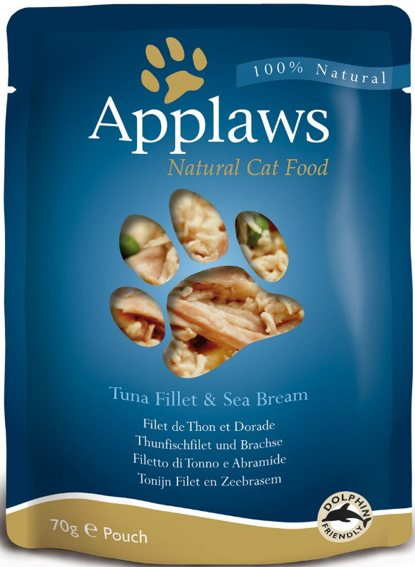 Applaws Cat Pouch Tuna & Seabream - 70 gr. (12 verp.)