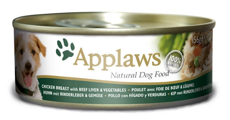 Applaws Dog Can Chicken, Liver & Vegetables - 156 gr. (12 verp.)