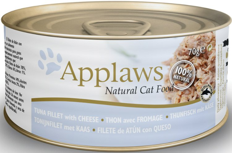 Applaws blik cat Tuna Fillet & Cheese - 70 gr. (24 verp.)
