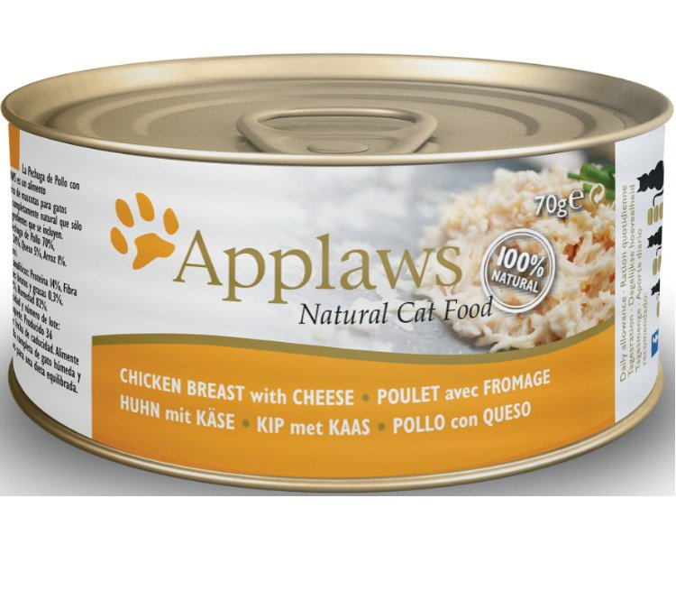 Applaws blik cat Chicken Breast & Pumpkin - 70 gr. (24 verp.)