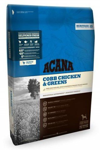 Acana Heritage Cobb Chicken & Greens   - 11,4 kg.
