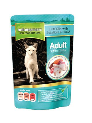 Natures Menu Cat Pouch Salmon & Tuna - 100 gr. (12 verp.)