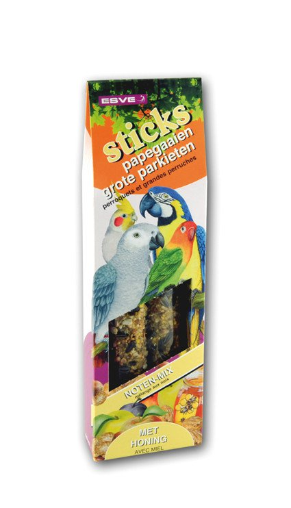 Esve Vogelsticks Papegaaien Noten-Mix - 2 st