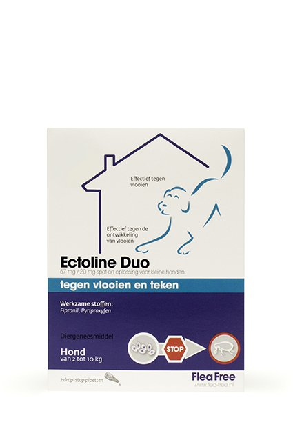 Ectoline Duo Hond 2-10kg - 2 pip.