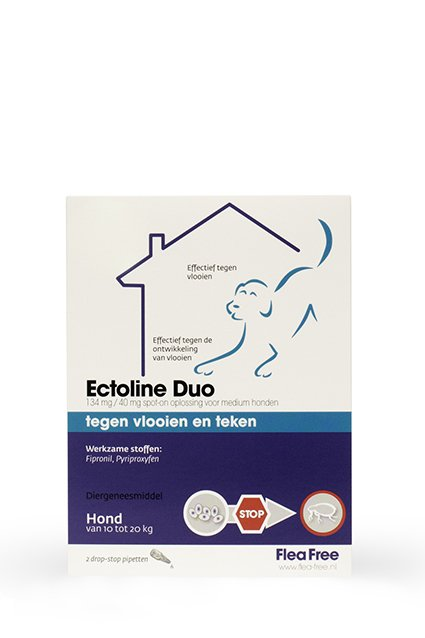 Ectoline Duo Hond 10-20kg - 2 pip.