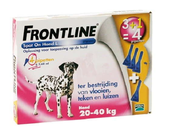 Frontline spot on dog L 4 Pipet