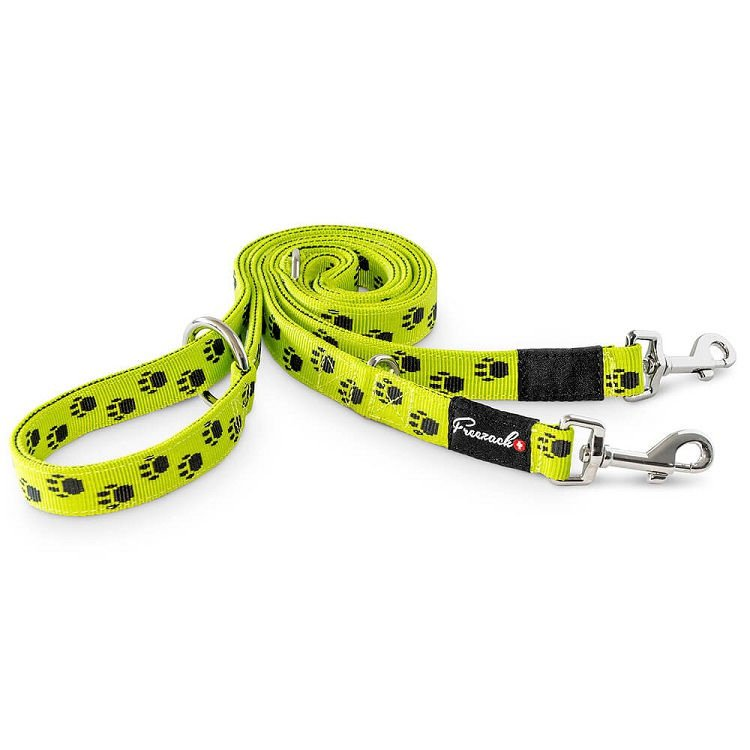 Freezack Multipurpose Lead Nordic Yellow With Paws L
