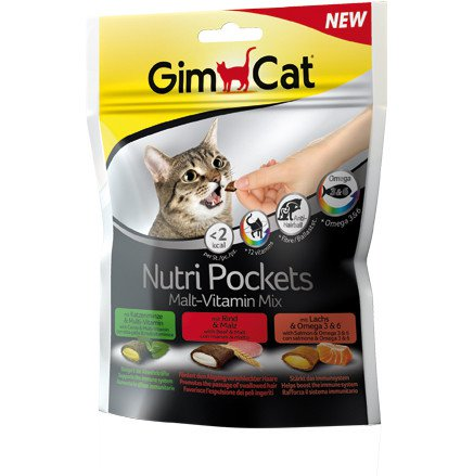 GimCat Nutri Pockets malt-vitaminemix - 150 gr.