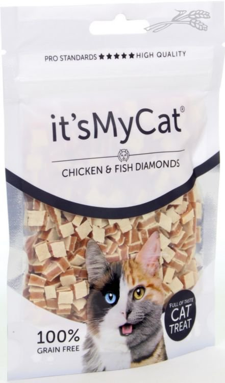 it's My Cat Chicken & Fish Diamonds  - 50 gr.