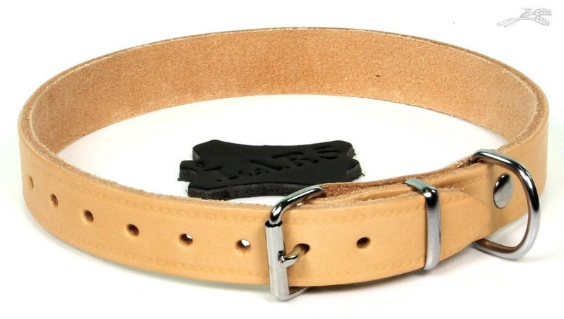 Lars Halsband Softleder Naturel - 22mm x 55cm