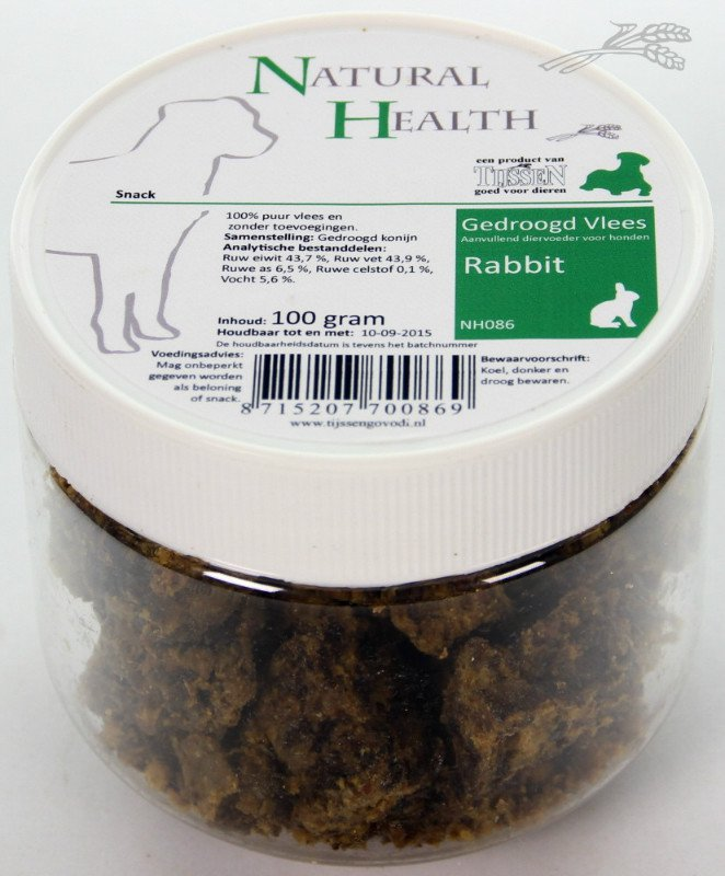 Natural Health Rabbit Snack - 100 gr.