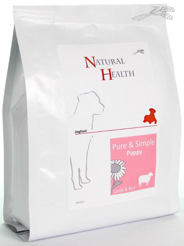 Natural Health Dog Lam & Rice Puppy - 400 gr.