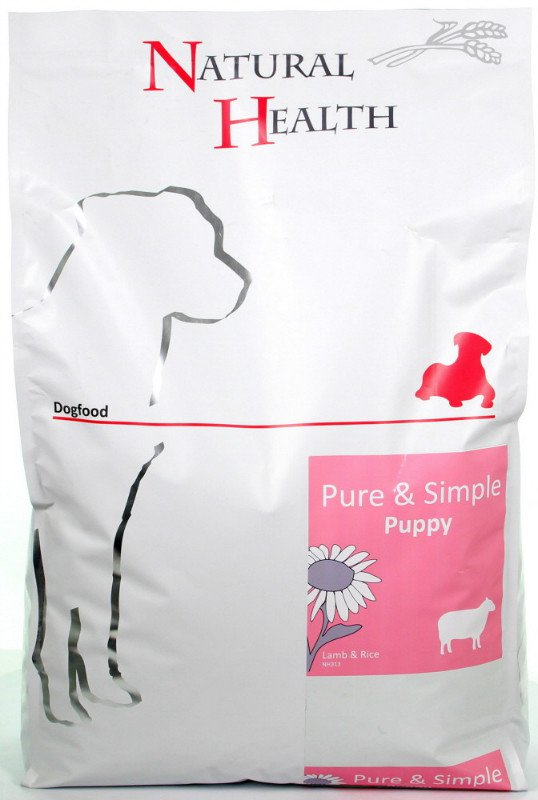 Natural Health Dog Lam & Rice Puppy - 7,5 kg.