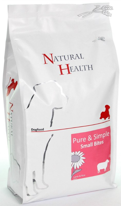 Natural Health Dog Lam & Rice Small Bites - 2,5 kg.