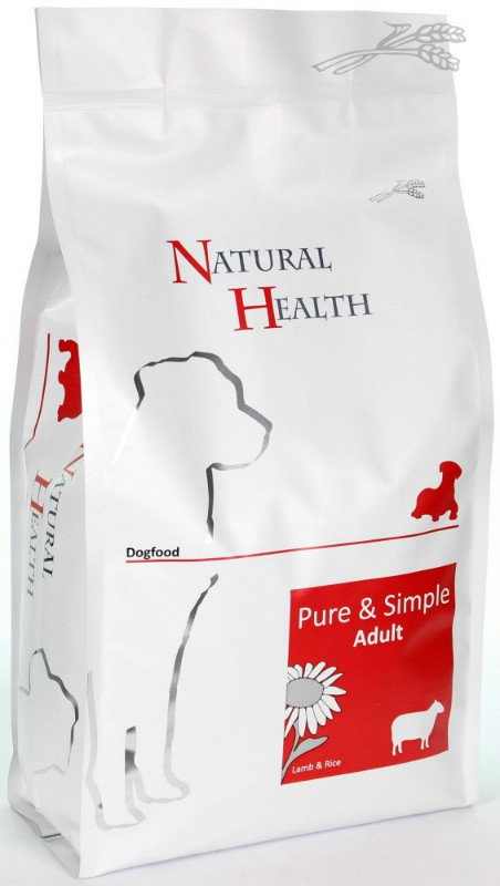 Natural Health Dog Lam & Rice Adult - 2 kg.