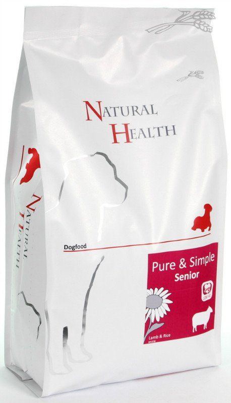 Natural Health Dog Lam & Rice Senior - 2 kg.