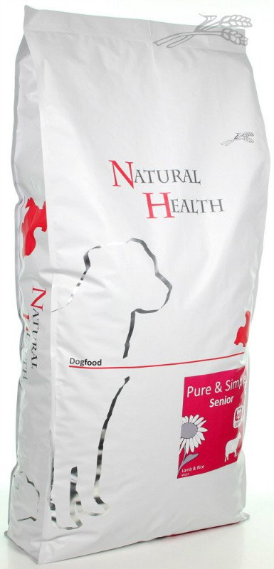 Natural Health Dog Lam & Rice Senior - 12,5 kg.