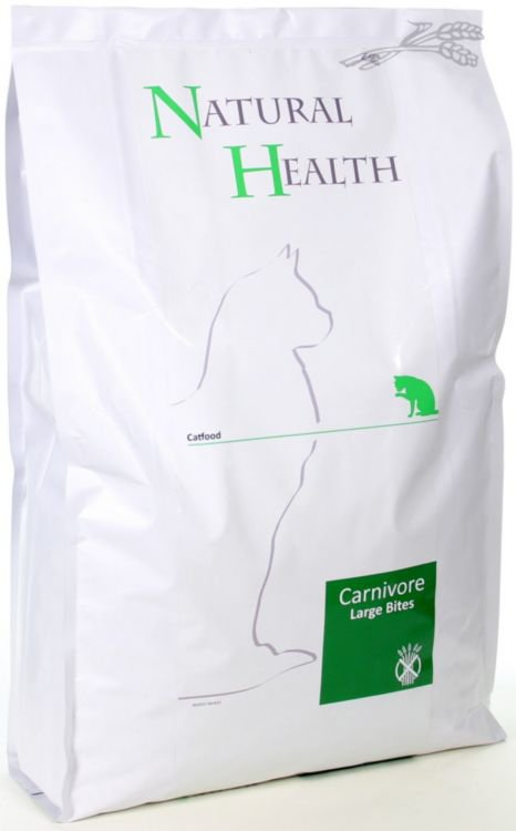 Natural Health Cat Carnivore Large Bite - 7,5 kg.