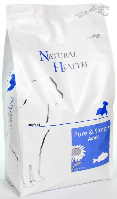 Natural Health Dog Fish & Rice - 2,5 kg.