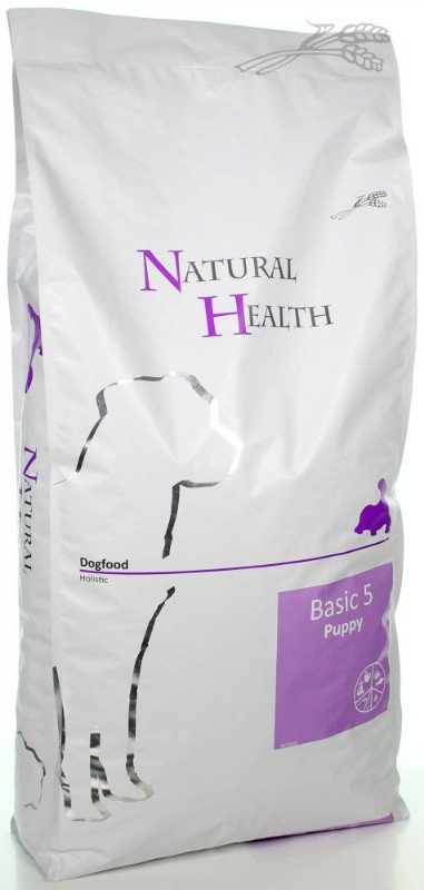 Natural Health Dog Basic Five Puppy - 12,5 kg.