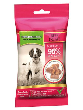 Natures Menu Dog Treats Beef - 60 gr. (12 verp.)