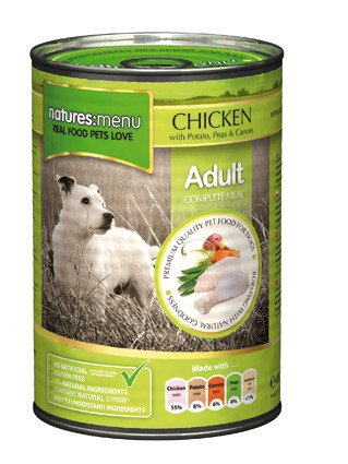 Natures Menu Dog Blik Chicken - 400 gr. (12 verp.)